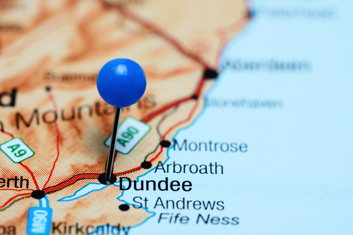 Dundee Map Large 700 x 480