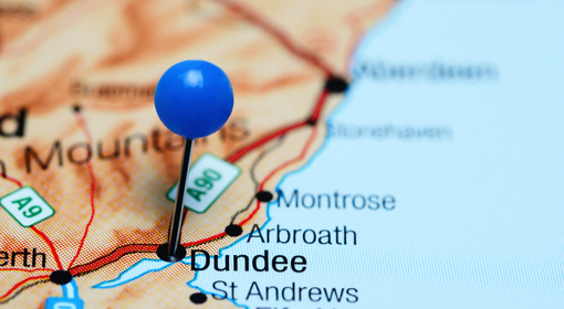 Dundee Map Small 510 x 280