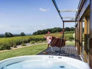 Outdoor hot tub & hammock